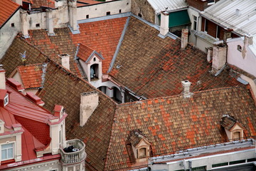 Vilnius old town roofs