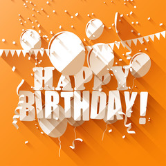 Birthday background in flat design style
