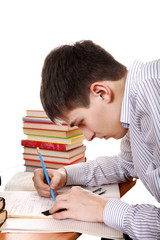 Teenager preparing for Exam