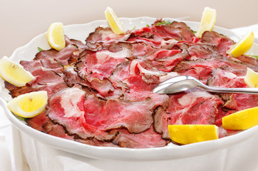 carpaccio - roastbeef