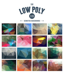 collection of abstract polygonal backgrounds