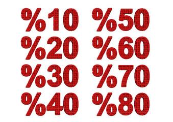 kırmızı renkli %