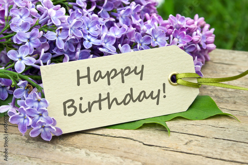 Poster Lilac birthday card