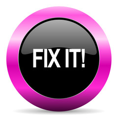 fix it pink glossy icon
