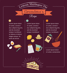 Chalkboard meal recipe template vector design