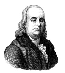 Portrait Man : Benjamin Franklin - 18th century
