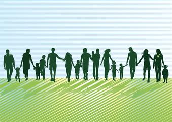 Eltern mit Kindern und Jugendlichen