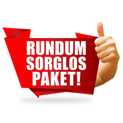 Rundum sorglos Paket! Button, Icon