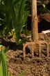Gardening - detail spades