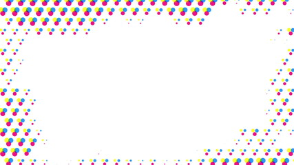 Abstract half tone frame background (loop-able)