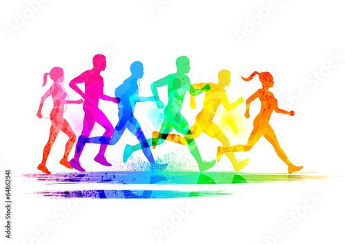 Fototapeta Group Of Runners