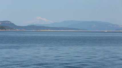 Sidney Spit BC, Mount Baker, Washington State