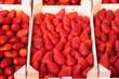 erdbeeren in obstkisten