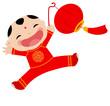 A chinese boy with lantern