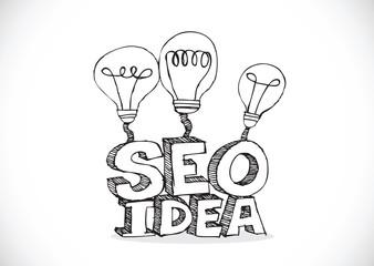 Bulb SEO Idea Search Engine Optimization concept design