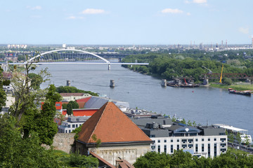 The top view from Bratislava castle of Danube