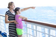 Family enjoying a cruise vacation together