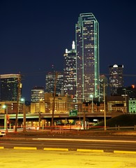 Skyscrapers at night, Dallas, USA © Arena Photo UK