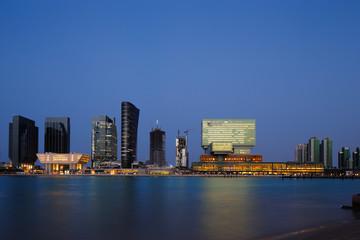 Mixed use developments at Sowwah Square in Abu Dbabi, UAE