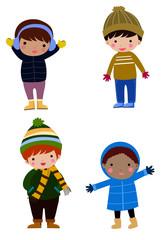 Four boys winter