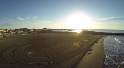 vue aérienne de plage