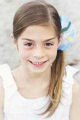 Beautiful Little girl Portrait Outdoors