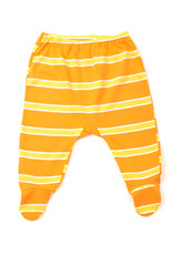 Close up with newborn panties with stripes, infant underwear