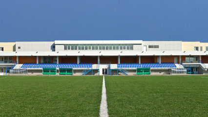 Grandstand stadium and playing field