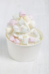 Frozen Yogurt mit Marshmallows