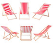 Beach chairs isolated on white background - 64867520