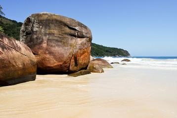 Praia Lopes Mendes beach at Ilha Grande Island Brazil
