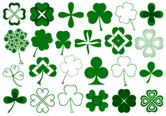Set of different clover set