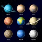 Fototapety Planets of Solar System