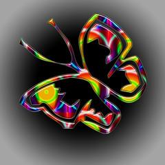 papillon arc-en-ciel