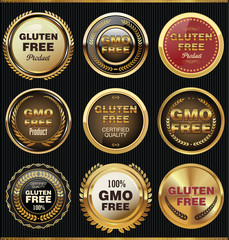 GMO and gluten free label collection