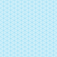 Isometric graph paper. Seamless illustration.