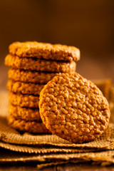 Stacked Grain Cookies on Jute