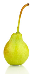 ripe pear isolated on white.