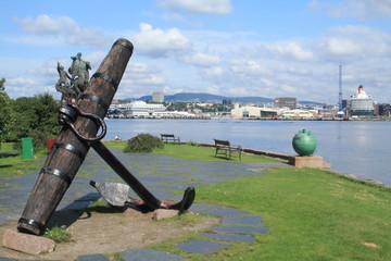 oslo norvegia penisola verdeggiante bygdoy con musei gallerie