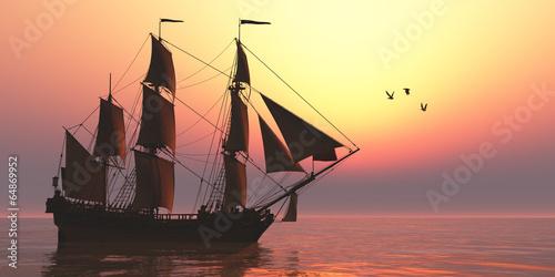 Leinwandbild Motiv Medusa Sailing Ship