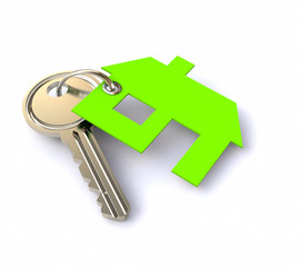 3D Key chain house