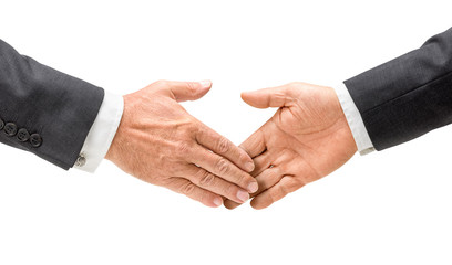 Geschäftsleute reichen sich die Hand