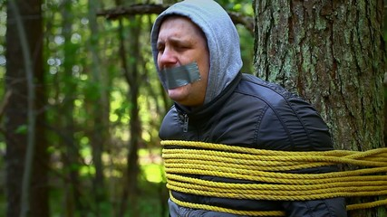 Man tied to a tree in the forest episode 5