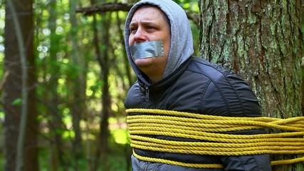 Man tied to a tree in the forest episode 6