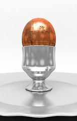 Uovo di metallo, cucina creativa, blindato