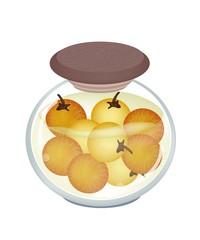 Jar of Pikled Solanum Stramonifolium in Malt Vinegar