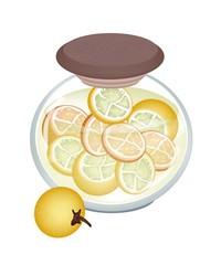 Jar of Pikled Slice Bolo Maka in Malt Vinegar