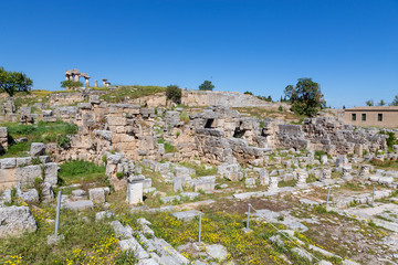 Main Agora of ancient Corinth, Peloponnese, Greece