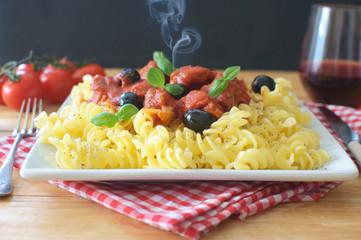 Hot Italian pasta