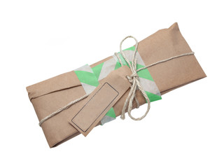 Cardboard Gift Pack, Souvenir, Isolated
